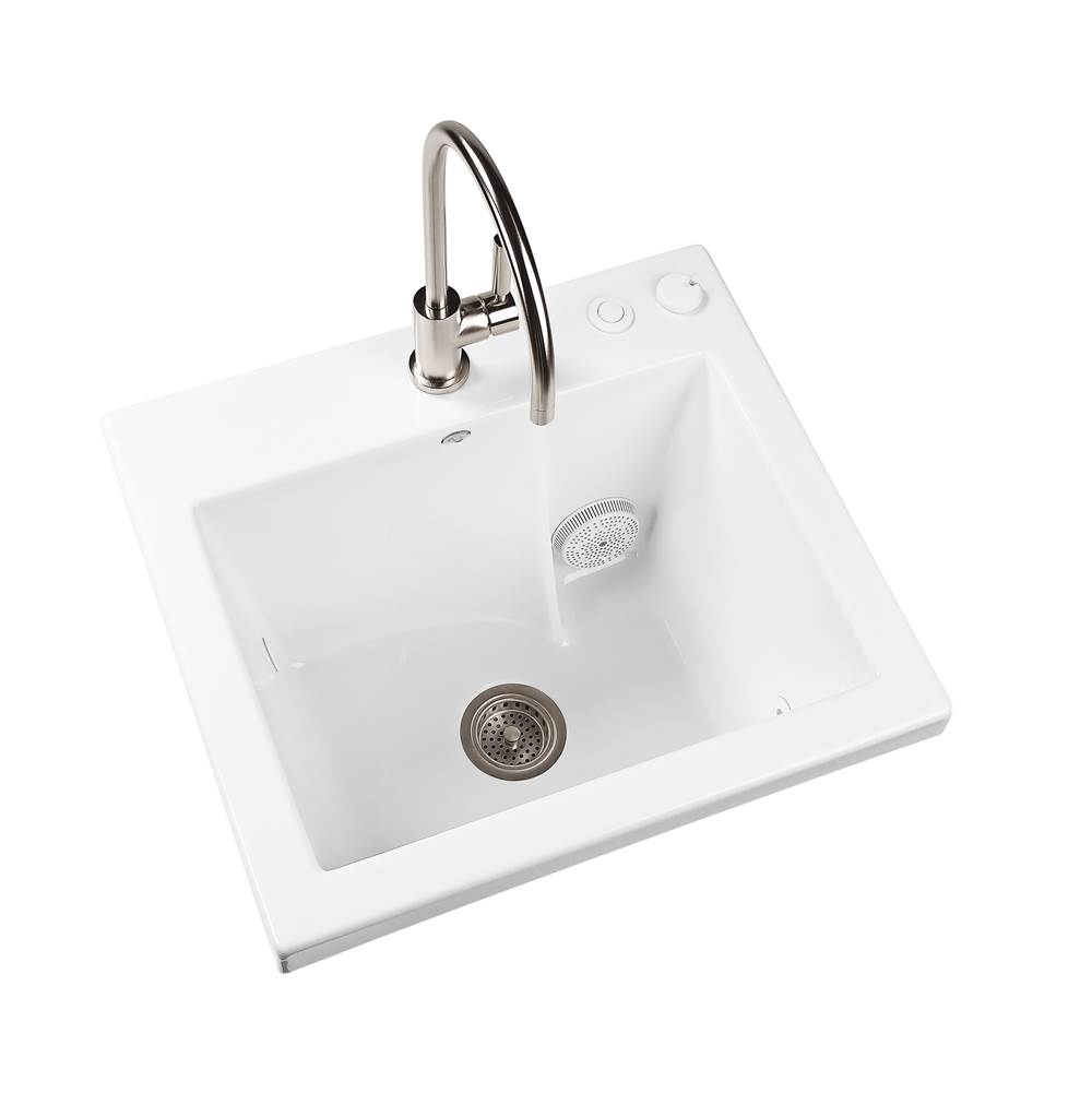 MTI Baths Drop In Laundry And Utility Sinks item MTLS120J-WH-DI