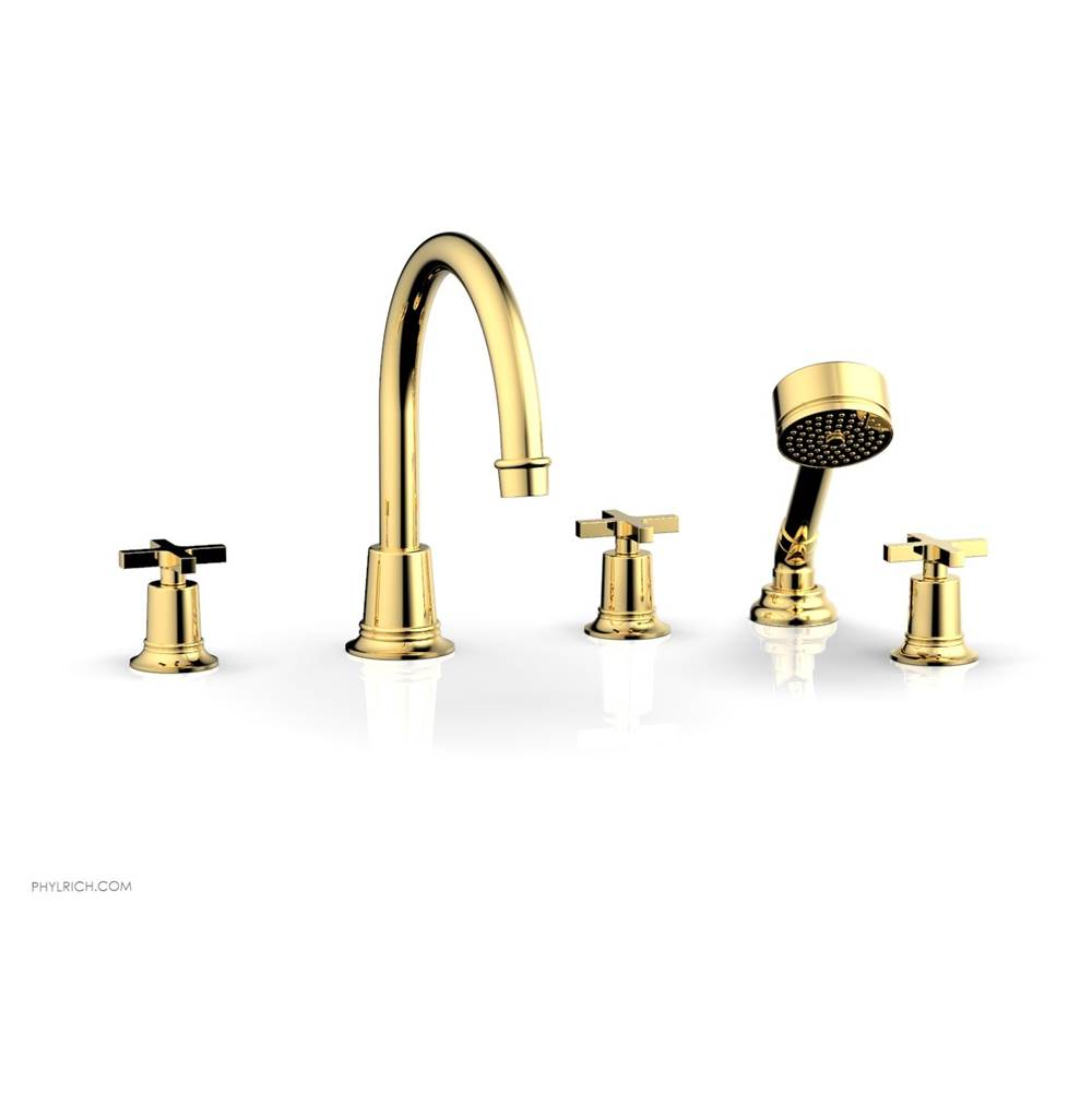Phylrich Deck Mount Roman Tub Faucets With Hand Showers item 501-50-025