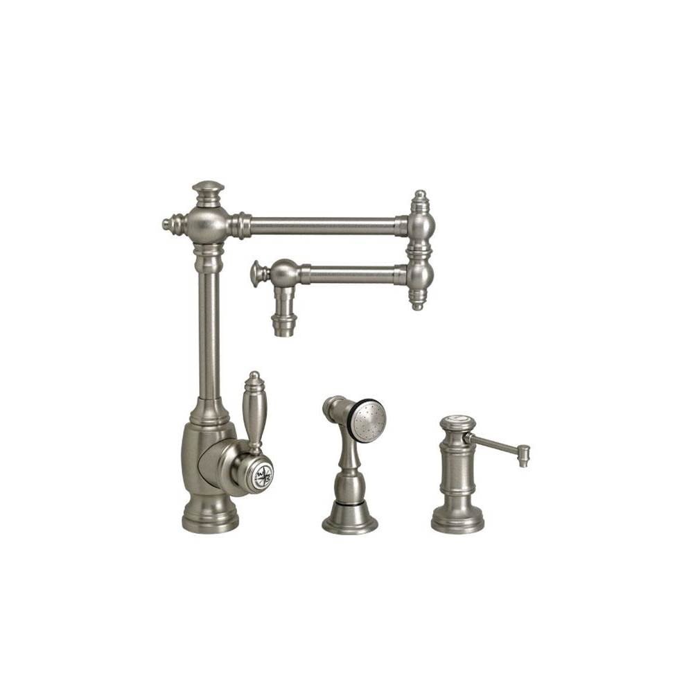Waterstone Single Hole Kitchen Faucets item 4100-12-2-DAMB